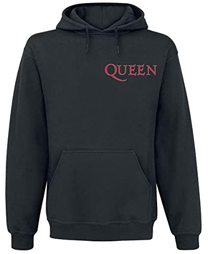 Queen Crest Vintage Trui met capuchon zwart M 50% katoen, 50% polyester Band merch, Bands