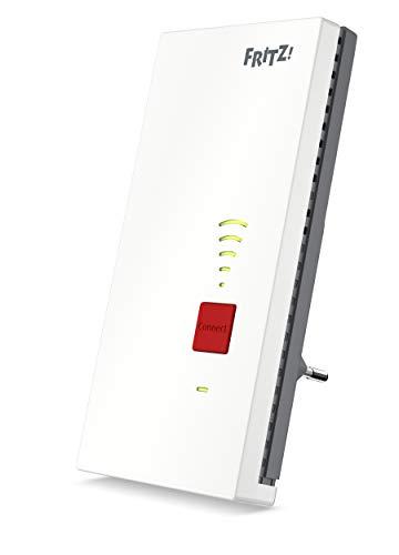 AVM FRITZ! 2400 WiFi Repeater/Extender AC+N (Dual Band tot 1.733 MBit/s bij 5 GHz + 600 MBit/s bij 2,4 GHz), wit