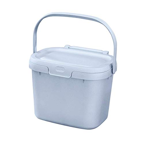 Addis Eco 100% plastic dagelijks keuken voedselafval compost Caddy bak, 4,5 liter, gerecycled lichtgrijs