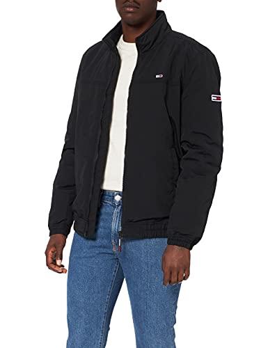 Tommy Jeans TJM Essential gewatteerde jas voor heren, Zwart, S