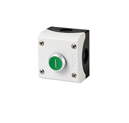 Eaton 216522 drukknop, 1 sluiter + 1 opener, vlak, groen, opbouw