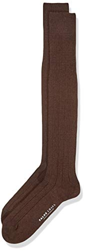 FALKE Heren kniekousen Lhasa Rib - merinowol/kasjmier mix, 1 paar, bruin (bruin 5930), maat: 43-46