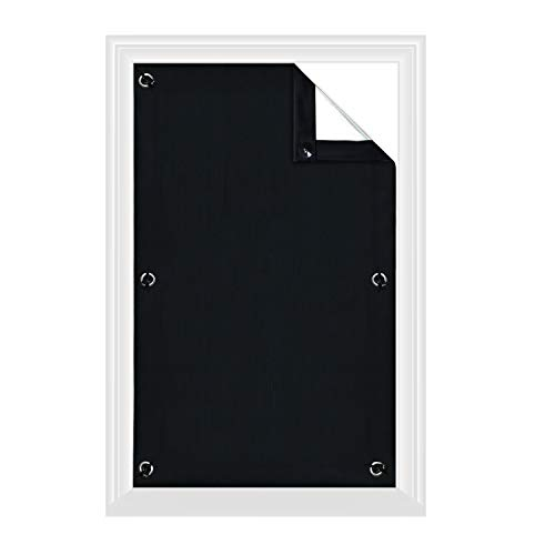 Greatime Verduisteringsgordijn, isolerend voor Velux-dakraam, 100% lichtdicht, met zuignappen, kleur zwart, 76 x 93 cm