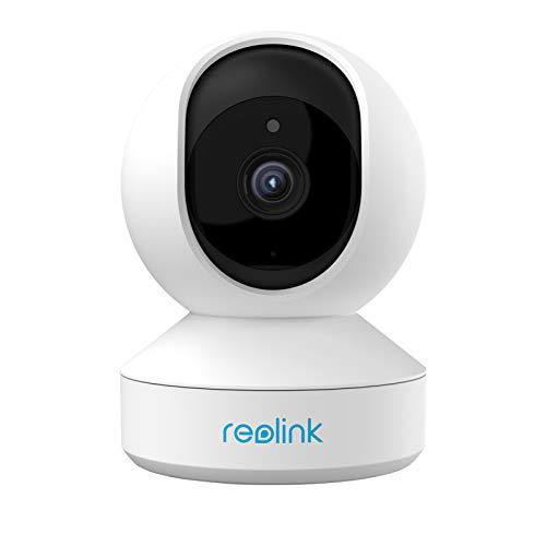 Reolink 5MP PTZ babyfoon slimme beveiligingscamera, 3X Optisch Gezoem 2.4/5GHz Dual-Band WiFi Draadloze Binnencamera, 2-Wegs Audio, WiFi CCTV IP Camera voor de Ouderen, Huisdier, E1 Zoom