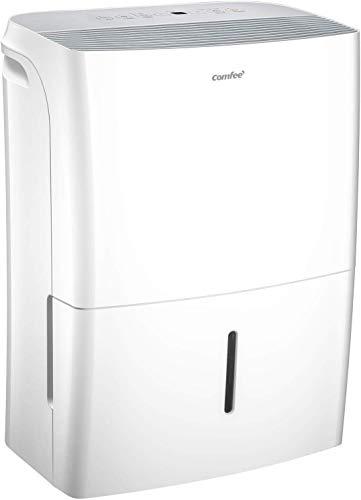 Comfee luchtontvochtiger App-compatibel wifi-bediening, ontvochtiger 20 l in 24 uur, Ruimtegrootte ca. 100 m3 (40 m2) , 170 m3/h luchtvermogen, 3 standen, MDDF-20DEN7-WF, Wit