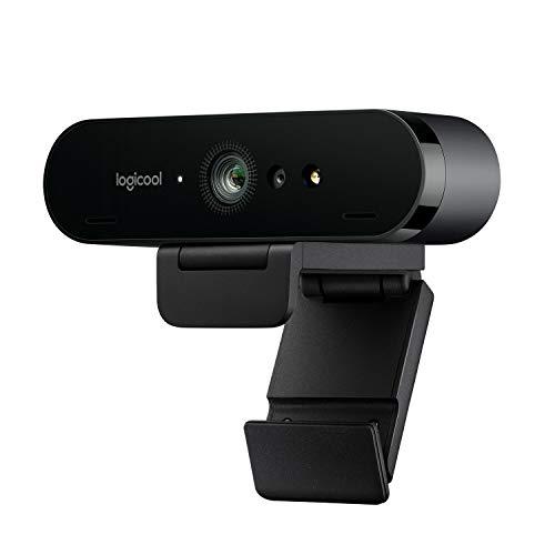 Logitech Brio Stream Webcam, Ultra HD 4K streaming editie, 1080p/60fps hyper-fast streamen, instelbare breedbeeld voor gamen, werkt met Skype, Xsplit, Zoom, YouTube, PC/Xbox/Laptop - Zwart