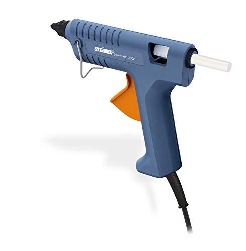 Steinel Hete lijmpistool Gluematic 3002, lijmpistool, incl. 3 lijmsticks van Ø11 mm, smeltcapaciteit van 16 g/min., opwarmtijd van 7 min., 18.5 x 3 x 16 cm, Blauw