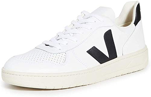 Veja V-10 Sneakers Heren Wit/Zwart - 39 - Lage Sneakers Shoes
