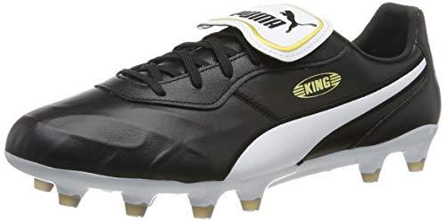 PUMA Unisex King Top Fg voetbalschoenen, Puma Black Puma White, 39 EU