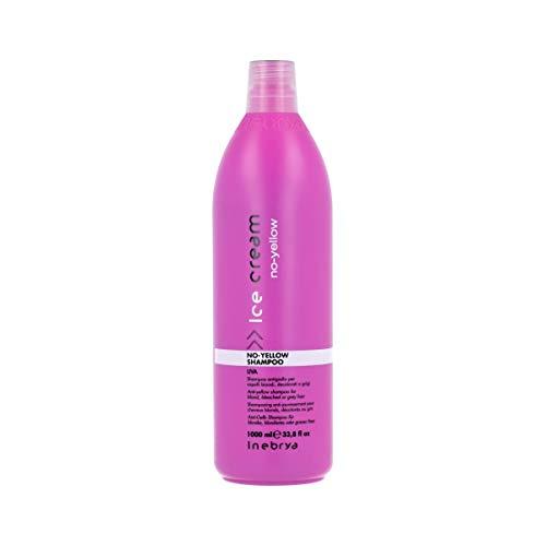 Inebrya Ice Cream No-Yellow Shampoo voor blond of grijs haar, 1000 ml