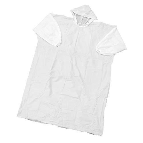 iplusmile Wegwerp-regenjas met capuchon en mouwen, transparante regenponcho's, lichte draagbare regenjas voor mannen en vrouwen