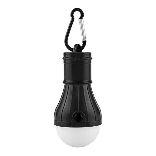 GAESHOW Camping lamp, mini draagbare 3 LED's tent hanglamp outdoor vissen camping licht lamp (zwart)