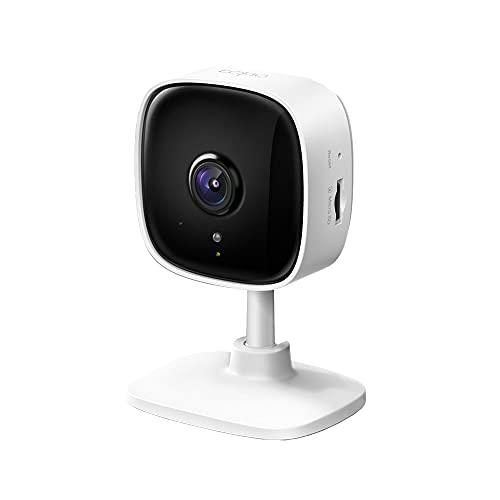 TP-Link Tapo Home Security Wifi-Camera, Draadloze Binnencamera 1080P (Full HD), Micro SD-Kaartsleuf tot 128 GB, Bewegingsdetectie, Mobiele Weergave (Tapo C100)