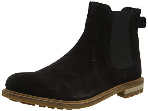 Clarks Heren Foxwell Top Chelsea Boots, Zwart Black Sde, 39.5 EU
