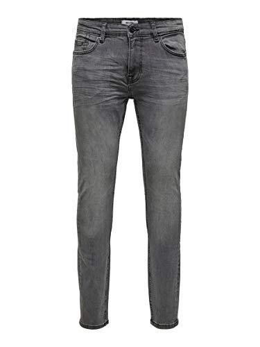 ONLY & SONS ONSWarp Skinny Fit Jeans voor heren, grijs (grey denim), 29W x 32L
