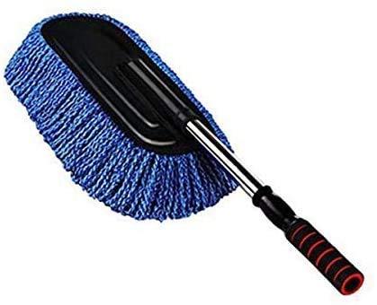 ASEOK Autowasborstel, microvezel antistatisch auto-reinigingswas-stofverwijderaar, afneembare telescopische handgreep, autowasdrag-microvezel-autoborstel voor