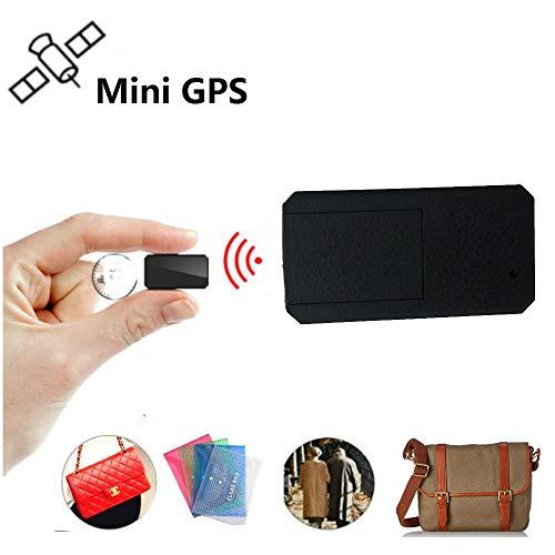 Winnes Mini GPS Tracker, Magneet Micro GPS-locatie Anti-diefstal Real-time GPS-locator voor handtas Portemonnee Tassen Boekentas Belangrijke documenten Verloren Finder Tracker TK901 Zwart