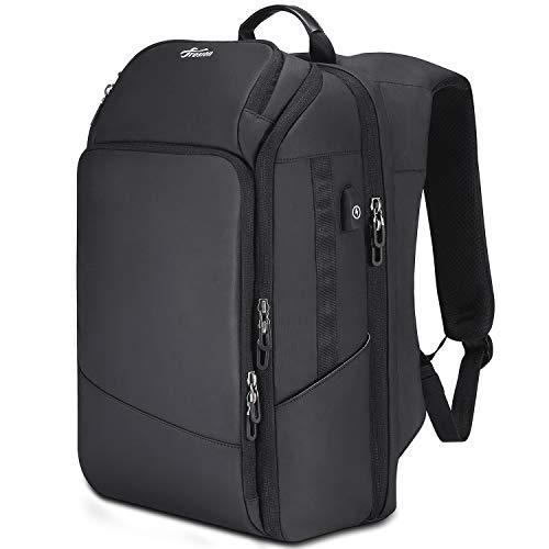 Mupack Grote rugzak voor heren, laptoprugzak, zakelijke rugzak van 15,6 inch tot 17,3 inch, reisrugzak vliegtuig, schoolrugzak voor mannen en vrouwen, met 4,0 USB-oplaadaansluiting, zwart, 15,6 inch, zwart. (zwart) - shoulder-handbags