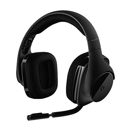 Logitech G533 Draadloze Gaming Headset, 7.1 Surround sound, DTS Headphone:X, 40mm Pro-G drivers, Noise Cancelling Microfoon, 2.4GHz draadloos, Lichtgewicht, Batterijduur 15 uur, PC/Mac - Zwart