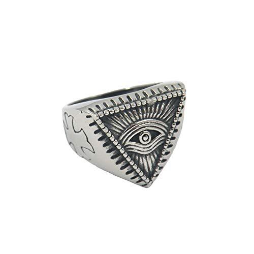 Heren vintage titanium stalen ring Anubis oogring religieuze ring 925 zilveren ring herenring vingerring Egypte directe oogring