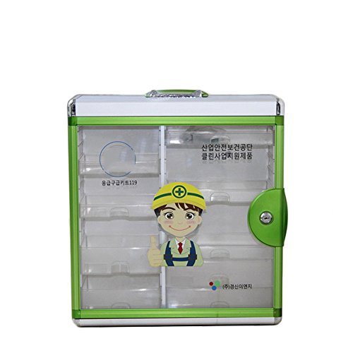 ChenYongPing Huishoudelijke houder, duurzaam aluminium frame dat aan de muur bevestigd is, medicijn-opbergdoos, verbanddoos voor thuis, op reis en op het werk