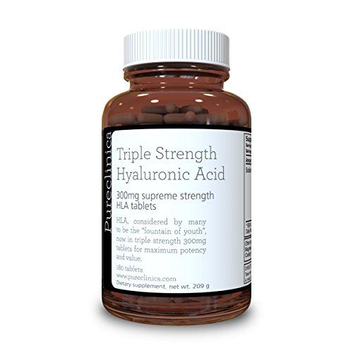 Hyaluronzuur 300mg x 180 tabletten (voorraad van 6 maanden). Driedubbele Sterkte Hyaluronzuur. 300% sterker dan elk ander HLA-tablet. SKU: HLA3