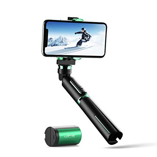 LOFTer Gimbal Smartphone Stabilisator Single Axis, 3-in-1 Bluetooth mobiele telefoon stabilisator, draagbare handheld stabilisator met statief en afstandsbediening voor GoPro en iPhone 12/11, Samsung, Huawei etc
