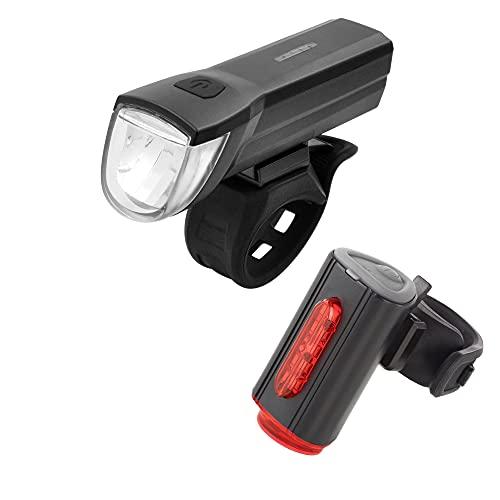 FISCHER USB-verlichtingsset met innovatieve 360° vloerlamp voor meer zichtbaarheid en bescherming, voorlicht 30 lux