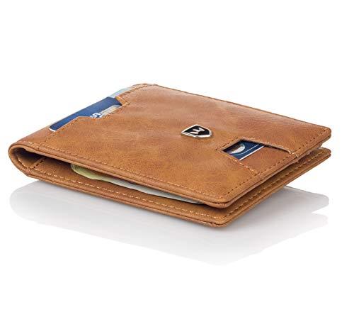 Kronenschein® Premium Geldbeurs Heren met Geldclip Portemonnee Mannen smal Geldbuidel RFID Portefeuille Slim-Wallet Portemonnee Creditcard Etui