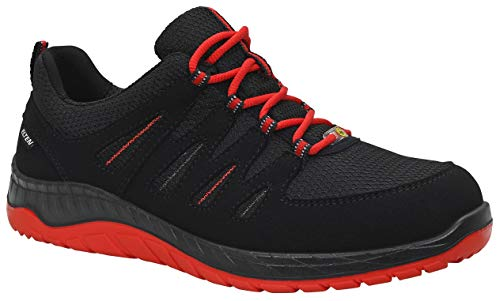 Elten F93793 729561 S3 Maddox Black-Red Low ESD lage schoen, zwart/rood, 47 maten