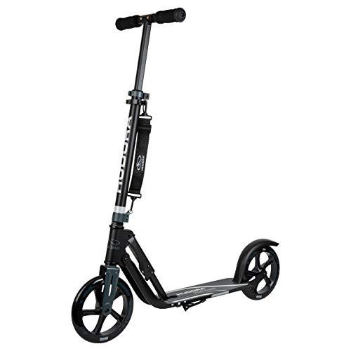 HUDORA 14825 Big Wheel 205-City-Scooter, inklapbaar, zwart/antraciet, 205 mm