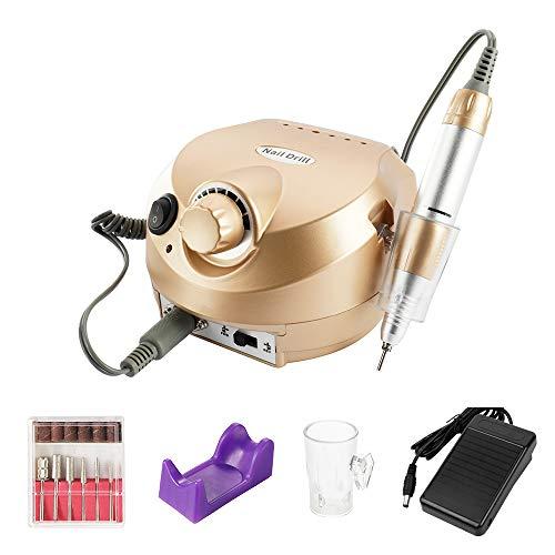 Anself Elektrische manicureset, machine voor slijpen en polijsten, met verwisselbare freesjes