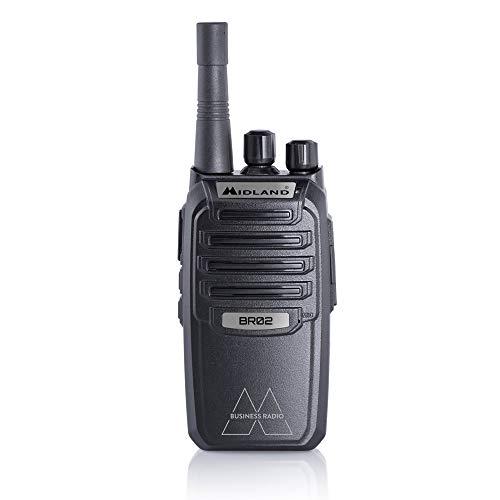 Midland BR02 Zakelijke radio, professionele en robuuste PMR446 Walkie Talkie met 24 uur Li-ion-accu, ontwikkeld voor het werk