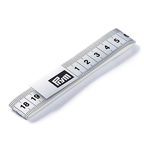 Prym Meetlint Fixo Plus zelfklevend 150 cm/cm, poly-vezelweefsel, zilverkleurig