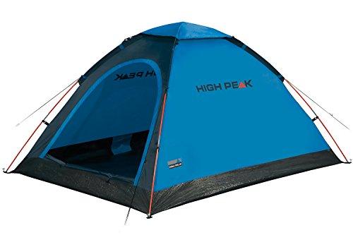 High Peak Koepeltent monodome, campingtent voor 2 personen, iglotent, festivaltent met badbodem, 1500 mm waterdicht, vrijstaand, hoge ontluchting, muggenbescherming