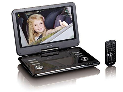 Lenco DVP-1210 - 12-inch draagbare HD DVD-speler - 2200 mAh geïntegreerde accu - met auto-adapter - zwart