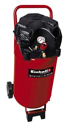 Einhell Compressor TH-AC 240/50/10 OF (max. 173 L/min, 10 bar, olie/service vrije motor, 50L tank, grote wielen, accessoirehouder, rubberen voet, wateraflaatplug, terugslagklep en veiligheidsventiel)