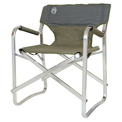Coleman Vouwstoel Deck Chair met aluminium frame om te relaxen, campingstoel met armleuningen en gevoerde rugleuning, tot max. 113 kg
