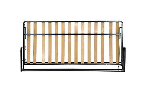 WallBedKing Horizontaal Opklapbedden (Muurbedden, Murphy bed, Verborgen bedden) … (Horizontaal 76cm x 190cm)