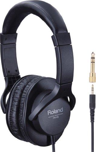 Roland RH-5 Stereo Hoofdtelefoon, Zwart, 40 mm in diameter