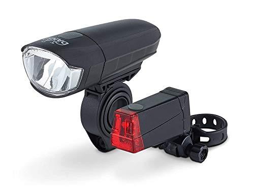 DANSI Led-fietslampenset, StVZO, zwart, 44001