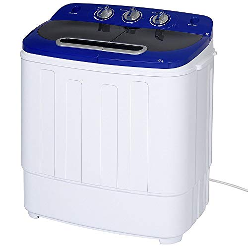 Display4top Draagbare Compact Mini Twin Tub Wasmachine en Spin Cycle w/Slang, 3.6KG wasmachine en droger