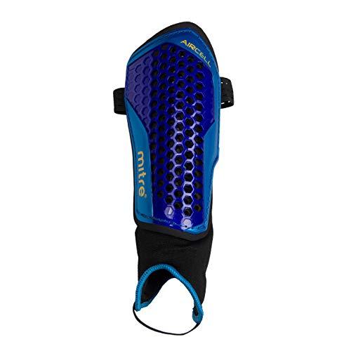 Mitre Scheenbeschermers Aircell Carbon, blauw/turquoise/geel, XS, S70003BCY