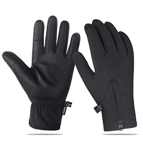 Unigear touchscreen-handschoenen, antislip fietshandschoenen met lange vingers Waterdichte winddichte hardloophandschoenen Ademend Geschikt voor de winter Herfst Lente