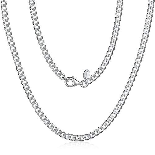 Amberta Sieraden - Echt 925 Sterling Zilver Keten - Gourmet Halskettingen - Collier voor Man - Lengte: 70cm