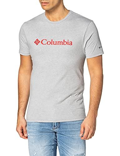 Columbia CSC Basic Logo T-shirt met korte mouwen voor heren, grijs (Columbia Grey Heather), L