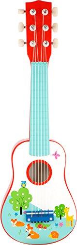 small foot 10725 kindergitaar van hout, het eerste muziekinstrument, bevordert muzikale vaardigheden, vanaf 3 jaar