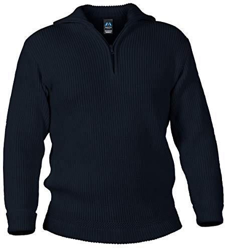 Blauer Peter - Merinowollen schipperstrui - pullover - 10 kleuren, Kleur:Marine, Grootte:46