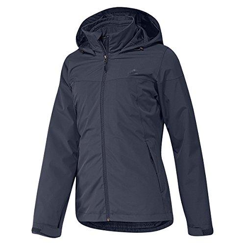 adidas Dames 3-in-1 outdoorjas Padded Wandertag jas, grijs, 46