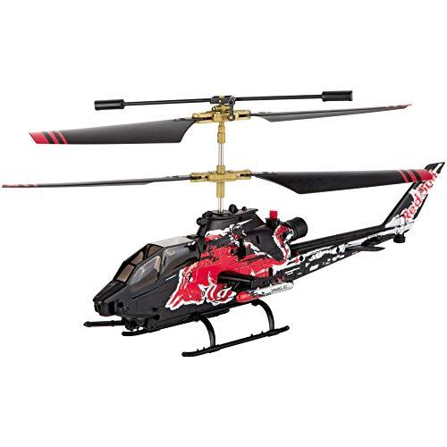 Carrera RC Red Bull Cobra – de TAH-1F in Red Bull-design – afstandsbediening helikopter met anti-botsingsfunctie en vlieghoogte-assistent, voor kinderen vanaf 12 jaar